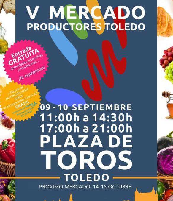 Quinto mercado de productos ecologicos en Toledo
